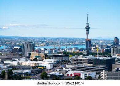 2017, DEC 3 - Auckland, New Zealand, Landscape of Auckland City, New Zealand. View from Mt. Eden.