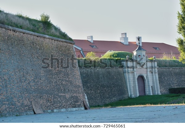 Komárno/Slovakia - 2017: Komárno fortification system is a system of forts, bastions, and fortifications in and around the towns of Komárno.