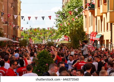 2017 may 24 - Manchester United Supporter party at Rörstrandsgatan in Stockholm before the 2017 UEFA Europa League final
