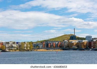 2017 may 8, A view from Södermalm towards Hammarby Sjöstad, Stockholm.
