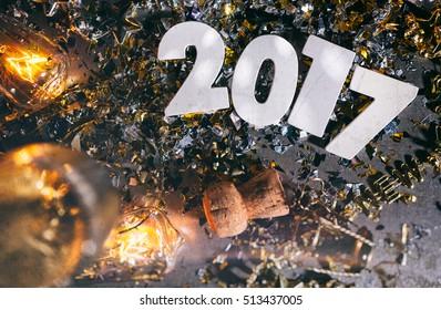 2017 New Year's Eve Grunge Background