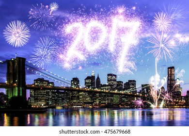 2017 New Year's Eve in New York City, USA