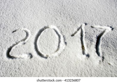 2017 on the snow for the new year and christmas