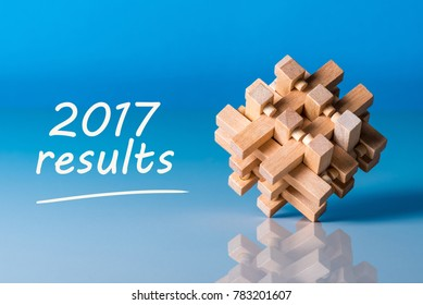 2017 results. Year review concept. Time to summarize and plan goals for the next year.