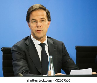 2017-06-29, Berlin Germany: Mark Rutte, Prime Minister of the Netherlands at an information event in the German Chancellery