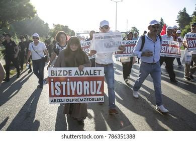 "2017-07-02 Adapazari Turkey. Justice March. CHP leader Kemal Kilicdaroglu started a ""Justice March"" from Turkey's capital city Ankara to Istanbul."