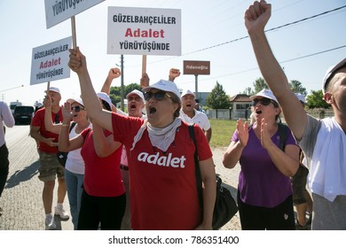 "2017-07-02 Adapazari Turkey. Justice March. CHP leader Kemal Kilicdaroglu started a ""Justice March"" from Turkey's capital city Ankara to Istanbul."