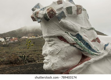 2017-07-08 the Iron-Canary Islands-Spain-Sculpture Tribute to the Descent of the Virgin of the Kings in Valverde El Hierro