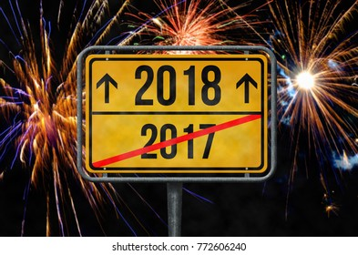 2017-2018 fireworks New Year's Eve