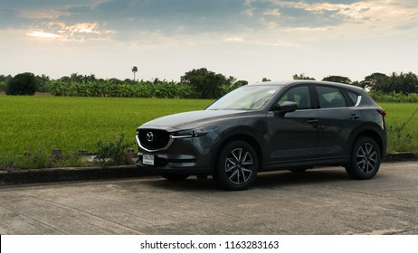 2018 August , Bangkok Thailand -  Mazda cx5 on the beautiful background , mazda cx-5 on the road