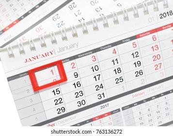 2018 calendar in schedule book