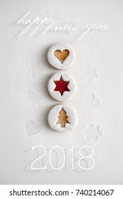 2018 Christmas and new year gingerbread cookies with honey