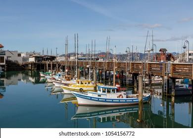 2018 Feb 24, Fishing boats at Fishermans Warf, San Francisco