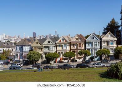2018, feb 26, Painted Ladies with San Francisco Skyline behind