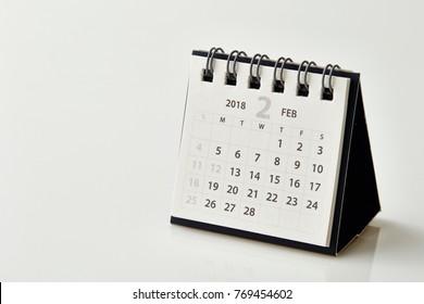 2018 February calendar