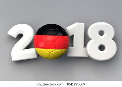 2018 German flag football background. 3D Rendering
