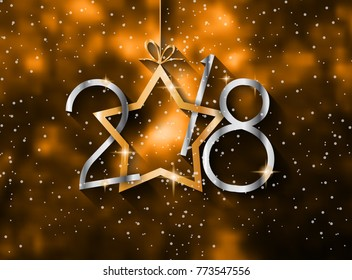 2018 Happy New Year Background for your Seasonal Flyers and Greetings Card or Christmas themed invitations