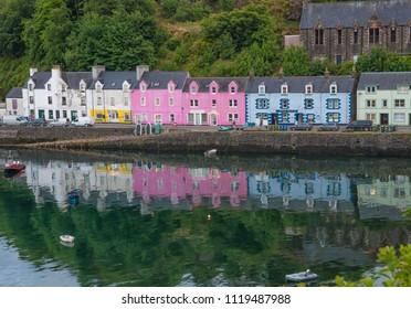 2018, June 8. Portree in Isle of Skye, Scotland