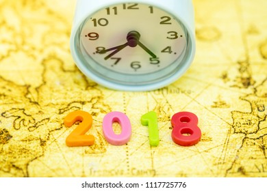 2018 new year business saving concept stock photo safe to use 2018 new year time and planing concept close up of colorful plastic number on world gumiabroncs Image collections