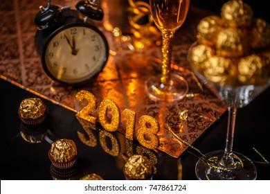 2018 New Year's Eve celebration background