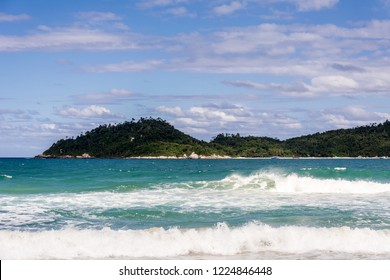 2018, october. Florianopolis, Brazil. Panoramic view of the Campeche Island (Ilha do Campeche), in the south of Florianopolis.