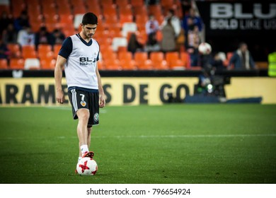 2018 in Valencia, spain, SPAIN - JANUARY 17: Guedes during Spanish King Cup match between Valencia CF and Alaves at Mestalla Stadium on january 17, valencia
