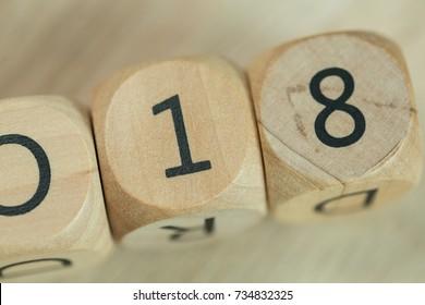 2018 wood cubes