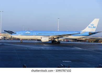 [2018-03-05] KLM PH-AOA aircraft (Airbus A330-203) taxing at Amsterdam International Airport (AMS), Schiphol, Netherlands