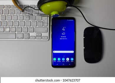 2018-03-16, Riga, Latvia. Editorial photoshoot for Samsung Galaxy S9+.