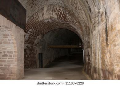 2018-04-15 Belfort  France. Fortress in Belfort city in France