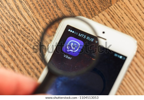 20180423 Kazan Russia Viber Messaging App Stock Photo (Edit