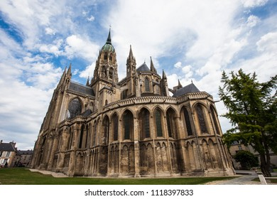 2018-05-10 Bayeux France. Cathedral of Bayeux, France.