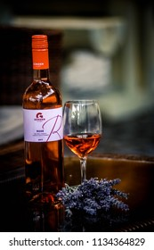 VISEGRÁD/Hungary 2018.07.07 Wine Brand name: Günzer/Rosé Hungary Wine Fest