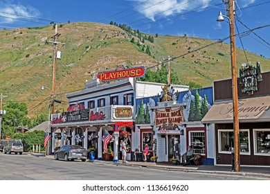 2018-07-11 downtown Jackson Wyoming USA at the local Playhouse featuring the ballad Catballou