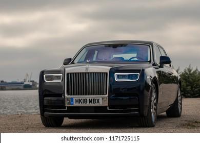 2018-09-04, Riga, Latvia: 2018 NEW Rolls Royce Phantom editorial photo shoot