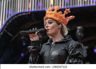 2019, April 27. Chasséveld, Breda, the Netherlands. Bebe Rexha at Radio 538 Kingsday.