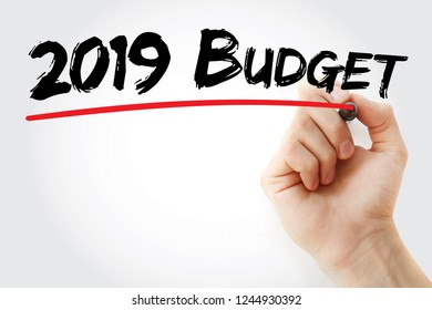 2019 Budget for new business with marker, concept background