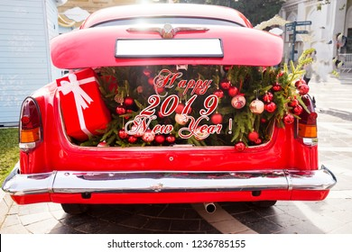 Christmas Car Decorations.Christmas Car Decorations Images Stock Photos Vectors