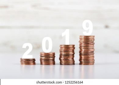 2019 Growth coins which means success business.