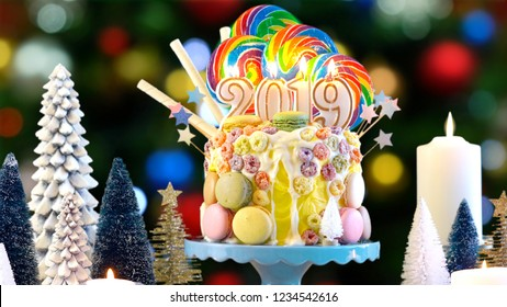 2019 Happy New Years Candy Land Stock Photo Edit Now 1234542559