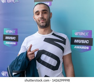 2019, June 11. Paradiso, Amsterdam, the Netherlands. Mouad Locos at the FunX Music Awards 2019.