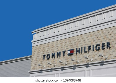 0149086b 2019 March 26. Tochigi Japan. a modern design of TOMMY HILFIGER brand name  logo