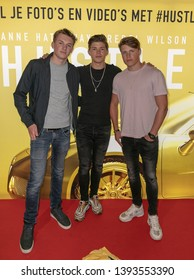 2019, May 09. Pathe ArenA, Amsterdam, the Netherlands. Vincent Visser and Ruben Visser at the dutch premiere of The Hustle.