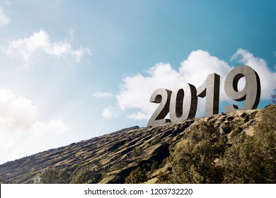 2019 on the hilltops. Happy New Year 2019