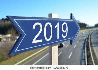 2019 pointer at a highway