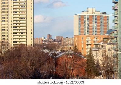 A 2019 Spring photo of Ottawa East overlooking Vanier and Carson Grove. I took the photo from Lowertown Ottawa ON, CAN. Ottawa is Canada's Capital city.