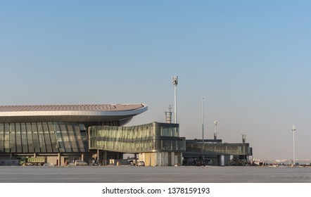 2019.04.22 Beijing, China  Beijing Daxing international airport construction site in the remote.