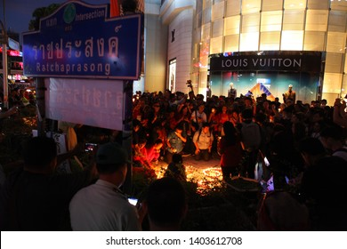 2019,May,19,Bangkok,Thailand,Commemorating the 9th anniversary of the event, the dissolution of the political rally of the Red Shirts in the Ratchaprasong Intersection area of Bangkok