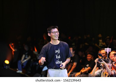 2019,November,16,Future Forward Party leader Thanathorn Juangroongruangkit speaks to his supporters during a party event in Bangkok