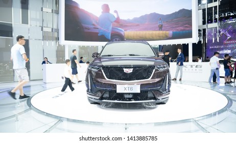 2020 Cadillac XT6 Crossover SUV at 2019 International Auto Show in Shenzhen, China. June 1, 2019.